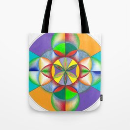 Wheel - The Sacred Geometry Collection Tote Bag