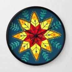 Folk Star Wall Clock