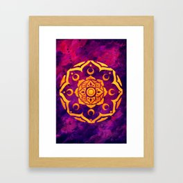 """Witchcraft""  WATERCOLOR MANDALA (HAND PAINTED) BY ILSE QUEZADA Framed Art Print"