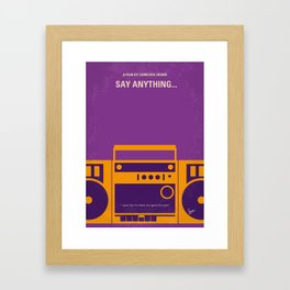 No886 My Say Anything minimal movie poster Framed Art Print