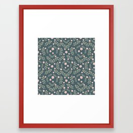 seamless pattern  with abstract leaf and flower Framed Art Print