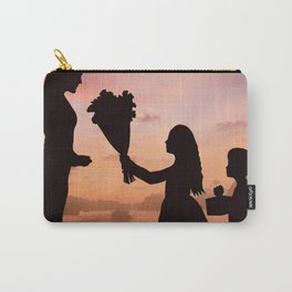 Mother and Children Carry-All Pouch