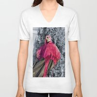 scary V-neck T-shirts featuring Scary! by IowaShots