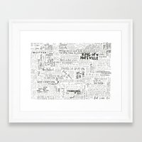 my mad fat diary Framed Art Prints featuring Dear Diary... by girlinplaits