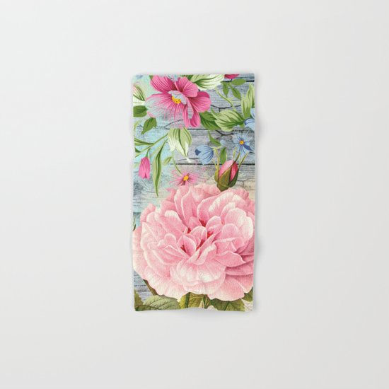 Vintage Flowers #6 Hand & Bath Towel