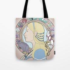 Alice in Wonderland Art Nouveau  Tote Bag