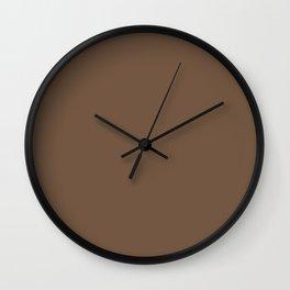 BM Kona Warm Brown AF-165 - Trending Color 2019 - Solid Color Wall Clock