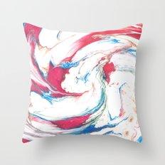 Marbling #3 Throw Pillow