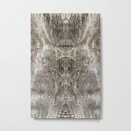 snake skin pattern / animal print Metal Print