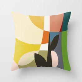 mid century garden II Throw Pillow