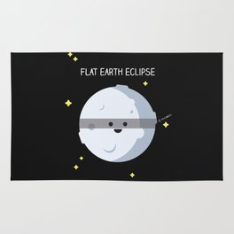 Flat earth eclipse Rug