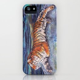 Blue - Tiger with Buddha iPhone Case