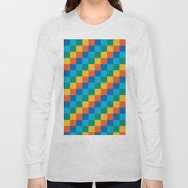 Color me happy - Pixelated Pattern in bright colors Long Sleeve T-shirt