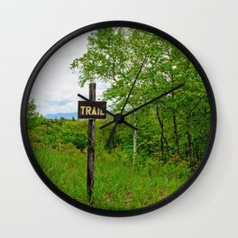 Looking For A Trail Wall Clock