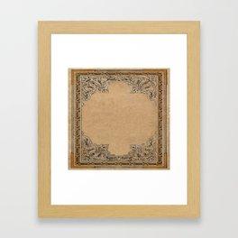 Old Knotwork Paper Framed Art Print