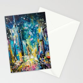 Evening on fifth avenue Stationery Cards