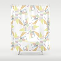 pastel Shower Curtains featuring Pastel by M. Noelle Studios