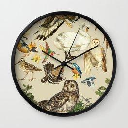 Bird poster Wall Clock