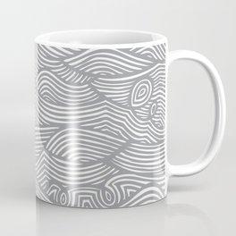 Waves in Charcoal Coffee Mug