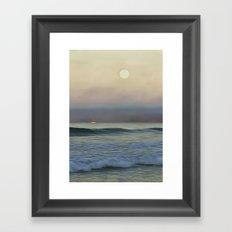Pale Sunset Framed Art Print