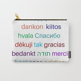 Thank you in different languages Carry-All Pouch