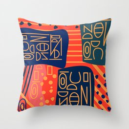 Strange alphabet Throw Pillow