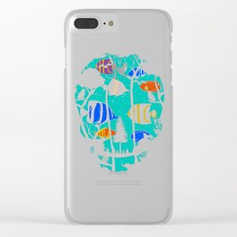 Scull Fish Clear iPhone Case