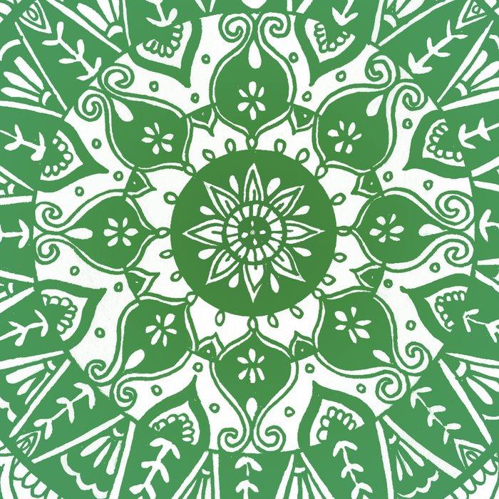 Green Mandala Pattern Leggings