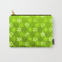 Flowers Green Carry-All Pouch