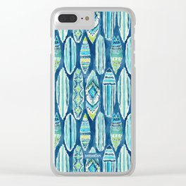 SURFBORTS Watercolor Surfboards Clear iPhone Case