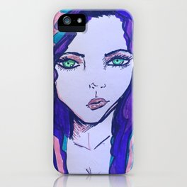 Piercing stare iPhone Case
