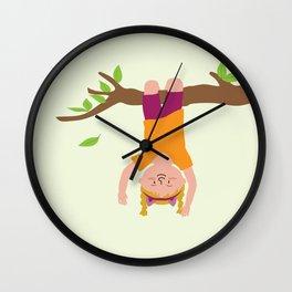 Positively Girly - tree Wall Clock