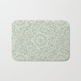 Sage Medallion with Butterflies & Daisy Chains Bath Mat