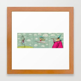 Paperplane trio Framed Art Print