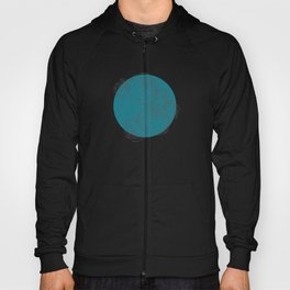 Modern Botanicals in a Minimalistic Design on Turquoise Hoody