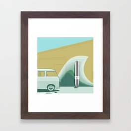 Wave Wall Framed Art Print