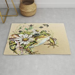 Toad and Wild Flowers Rug