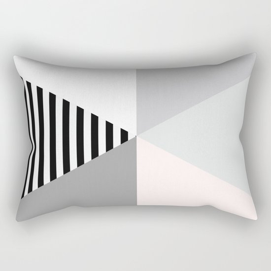 Minimalist Geometric Rectangular Pillow