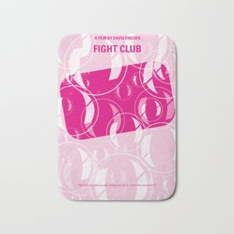 No027 My Fight Club minimal movie poster Bath Mat
