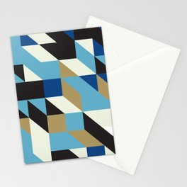 Modular tiles 4 Stationery Cards