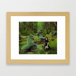 Tara and the Each Uisge Framed Art Print