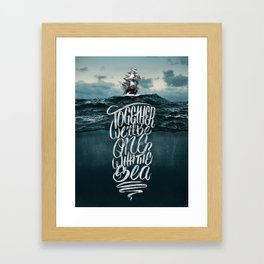 One With The Sea Framed Art Print