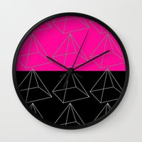 pyramid Wall Clocks featuring Pyramid by Georgiana Paraschiv