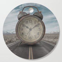 A Matter of Time Surreal Cutting Board