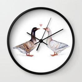 Geese Love Wall Clock