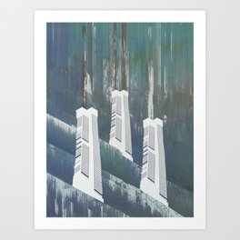 white chimneys / 19-09-16 Art Print