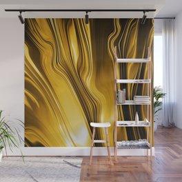 Streaming Liquid Gold, A brilliant fire. Wall Mural