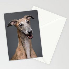 Galgo Aire - Dog portrait - Greyhound - Skinny Dogs collection Stationery Cards