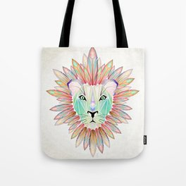 lion colorful Tote Bag