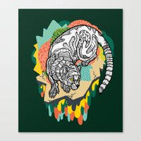 panther Canvas Prints featuring Panther by casiegraphics